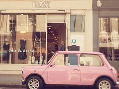 Cute pink car!