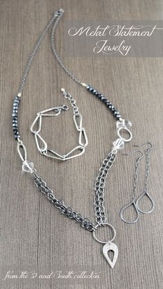 Edgy Hand fabricated statement jewelry for the rebel heart
