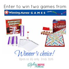 Winning Moves Games for family game nights!  Winning Moves games for family game night One of my favorite things to do, especially when the weather turns colder, is to play board games with my family & friends. It is a great way for us all to connect, and have lots of fun while doing it. From the classics to new games, we [...]  http://eightymphmom.com/2016/11/winning-moves-games-family-game-nights.html