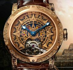 Only Mexico created by Louis Moinet pays tribute to the roots of Mexican culture by depicting the famous Sun Stone. Luxury Watches, Rolex Watches, Breitling, Cool Watches, Watches For Men, Watch News, Expensive Watches, Mechanical Watch, Beautiful Watches