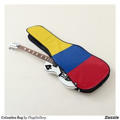 Shop Colombia flag guitar case created by FlagGallery. Colombian Flag, Guitar Bag, Flags Of The World, One Bag, Personalized Gifts, World Flags, Customized Gifts, Personalised Gifts