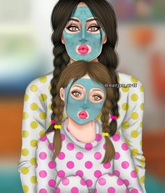 and baby anime (notitle) Mother And Daughter Drawing, Mother Art, Girly M, Best Friend Drawings, Girly Drawings, Sarra Art, Cute Couple Art, Cute Girl Drawing, Girl Sketch