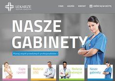 Strona www gabinetów lekarskich z http://www.design-pro.com.pl/lekarze,197.html