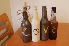 Love Rustic Wedding Decor Bottles - cute