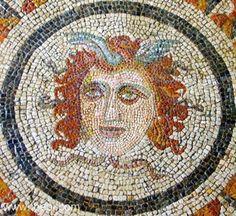 Ancient Greek & Roman Mosaic: Medusa Head
