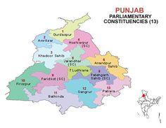 Punjab Lok Sabha 2014 Election Constituency Map
