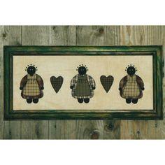 Mammy Friends Applique Framed Wall Art Pattern