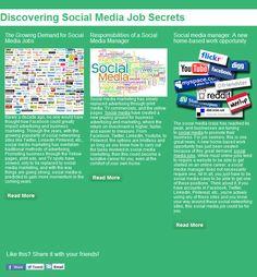 Social Media Job Secrets Pin