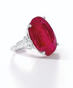 Impressive and Important Ruby and Diamond Ring, Mounted by Cartier