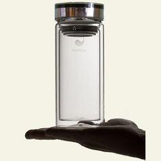 Aquaovo - Glass Thermos, 16 oz glass thermos