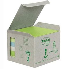 3M Pastel Rainbow Recycled Post-It Z-Notes 76 x 76mm R330-1GB Sticky Pads, Recycling, Office Supplies, Notes, Rainbow, Pastel, Yellow, Rain Bow, Report Cards