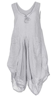 Ladies Womens Italian Lagenlook Quirky Sleeveless Ribbed Neck Slit Pocket Tulip Parachute Bottom Linen Tunic Dress One Size UK 12-16 (One Size, Light Grey) Generic http://www.amazon.co.uk/dp/B00W1SDI7G/ref=cm_sw_r_pi_dp_nKXnvb0T7H954