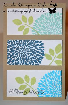 cards stamped with betsy's blossoms stampin up - Google Search