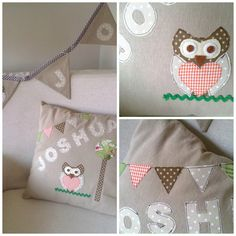 Baby owl cushion and bunting - Country Maison Blog