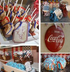 Collage of Patriotic Dessert Station!