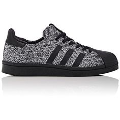adidas Women's Women's Superstar Boost Primeknit Sneakers ($160) ❤ liked on Polyvore featuring shoes, sneakers, low profile sneakers, low top, adidas shoes, long shoes and rubber sole shoes