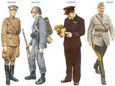WWII - Debmark - 1940 Jan., Denmark, 1st Lieutenant, Reconnaissance Unit, Danish AF Debmark - 1940 Jan., Denmark, Private, Jutland Division Australia - 1941, Pilot RCAF Finland - 1939 Sep., Helsinki, Marshal Mannerheim, Finnish Army