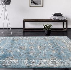 4535 Distressed Blue 52x72 Area Rug Carpet Large New * Details can be found by clicking on the image. (This is an Amazon Affiliate link)