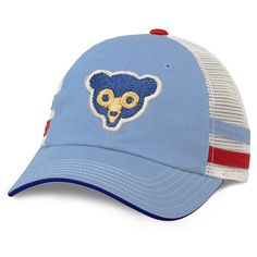 Chicago Cubs 1969 Cooperstown Foundry Striped Trucker Adjustable Cap  #ChicagoCubs #Cubs #FlyTheW #MLB #ThatsCub