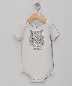 Loving this Gray Owl Bodysuit #zulily #ad *too cute