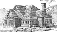 Eplans European House Plan - Three Bedroom European - 1824 Square Feet and 3 Bedrooms from Eplans - House Plan Code HWEPL70008