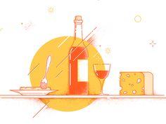 Bottle of wine by Igor Zackshevsky