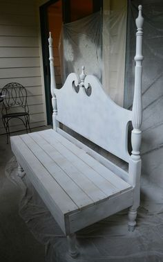 I have been redoing my porch in the One Room Challenge and we found a headboard that was being tossed away and…