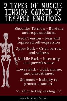 9 Types of Muscle Tension Caused by Trapped Emotions Do you struggle with chronic pain, fibromyalgia or constant anxiety and stress? Here is what your pain means. Ayurveda, Health And Wellness, Mental Health, Health Fitness, Men's Fitness, Muscle Fitness, Gain Muscle, Muscle Men, Build Muscle