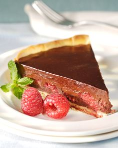 Chocolate and Raspberry Tart Recipe