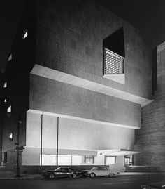 """Whitney Museum by Marcel Breuer, Madison Ave. & 75th Street (soon to be """"the former Whitney Museum"""")"""