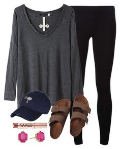 """""""OOTD"""" by prep-lover1 ❤ liked on Polyvore featuring James Perse, Raquel Allegra, Birkenstock, Urban Decay and Kendra Scott"""