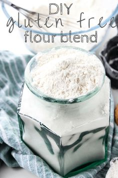 Easy to make homemade gluten free flour blend - perfect for baking cookies, muffins, cakes, and more. I distinctly remember one particular conversation I had with a friend of mine several years ago. Her dad was Gluten Free Flour Mix, Gluten Free Cookies, Gluten Free Baking, Gluten Free Desserts, Gluten Free Recipes, Fodmap Recipes, Celiac Recipes, Gf Recipes, Vegan Baking