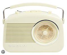 König - Retro Design AM / FM Tafelradio - Ivoor