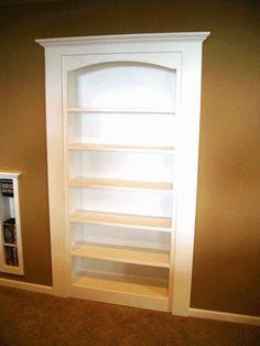 Bookshelf Door for bedroom in basement?