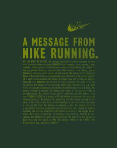 message from nike running | Tumblr