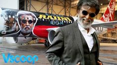 Check Out Rajnikanth's Poster On Aircraft | Kabali #VSCOOP