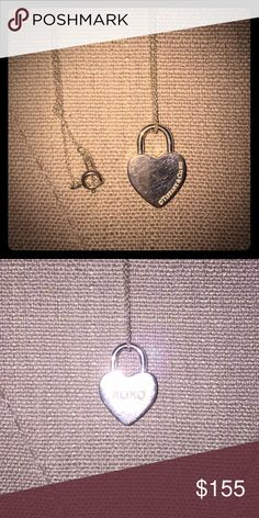 """Tiffany&Co. XOXO Heart Pendant Charm Necklace Tiffany&Co. XOXO Heart Pendant Charm Necklace. Sterling sliver, 16"""" chain. Just cleaned at the Tiffany store. Comes with the original jewelry bag. Tiffany & Co. Jewelry Necklaces"""