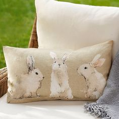 zany-for-zinnias: potterybarn: Do you know the story behind our Watercolor #Bunnies? Check it out the #behindthrdesign on the blog! blog.potterybarn.com / on Instagram http://ift.tt/1gpX1sH Just too cute!