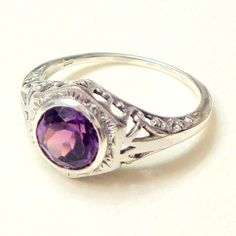Vintage Sterling Silver Alexandrite Ring by Steampunkitis on Etsy, $59.00