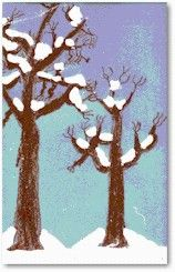 Winter Wonderland Painting Lesson Plan: Painting for Kids - KinderArt