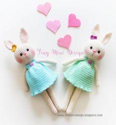❤ Szoknyás amigurumi nyuszi lány (ingyenes horgolásminta) ❤Mindy -  kreatív ötletek és dekorációk minden napra