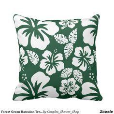 Forest Green Hawaiian Tropical Hibiscus