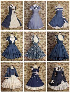 Mary Magdalene Dresses: Blue: The shirt from the bottom left