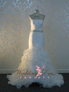 Stunning Organza Wedding Dress by WeddingDressFantasy on Etsy, $955.00