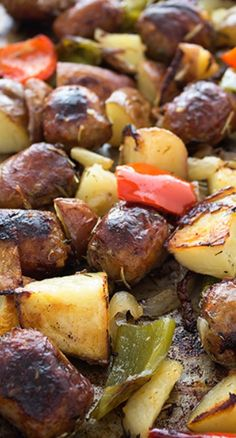 Sausage Potato Bake Recipe ~ The flavors and textures of this dish are incredible.