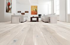 Barlinek Sense Oak Gentle is an engineered extra wide plank floor with a cream brushed matt lacquer finish, offering a fresh elegance and unsurpassed beauty to any space.