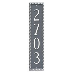 Montague Metal Franklin Column Address Sign Wall Plaque - PCS-0056S1-W-ABG