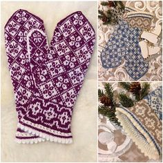 Ravelry: Erika mittens pattern by JennyPenny Crochet Mittens, Mittens Pattern, Knitting Charts, Knitting Patterns, Fair Isle Knitting, Ravelry, Gloves, Creative, Handmade