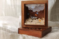 Shadow box The sea in my heart made with antique by sabiesabi