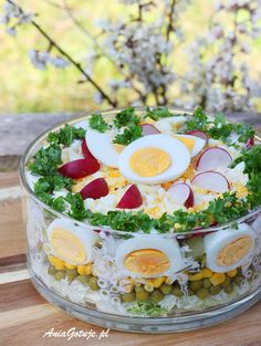 Easter Appetizers, Christmas Appetizers, Cold Vegetable Salads, Easter Salad, Easter Dishes, Brunch Buffet, Easter Egg Crafts, Polish Recipes, Easter Recipes